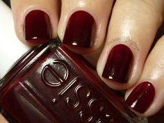 Essie Bordeaux. I seriously can't stop staring at my nails. LOVE this color for fall!