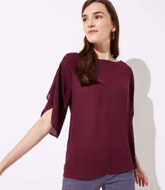 LOFT's feminine & trendy tops perfectly complement your wardrobe. Shop fashionable women's tops to complete your perfect outfit—for work, weekend & more! Fall Photos, Casual Tops, Top Colour, Color, Mixed Media, Topshop, Dressing, Feminine, Style Inspiration