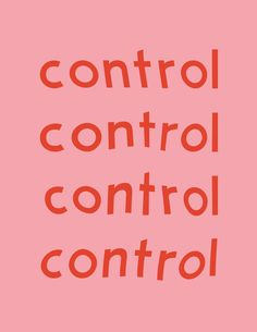 control #type #typography #red
