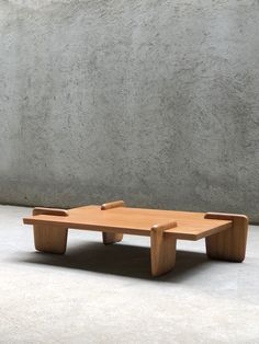 handcrafted solid teak coffee table, in a natural polished finish.design: X+L for Phantomhandssize: top L 120cm x W 80cm x H 26cm (from floor)thickness: 4cmplease contact us for shippingcosts