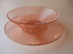 Vintage Pink Depression Federal Glass by Energyforthesoul4 on Etsy