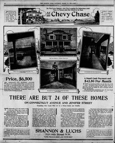 Chevy Chase 1913 Real Estate Advertisement http://j.mp/1UrJFBJ