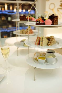 What better way to unwind than with a tier of Afternoon tea and a glass of champagne...http://bit.ly/1CM7Inj #AfternoonTea #FifthFloor