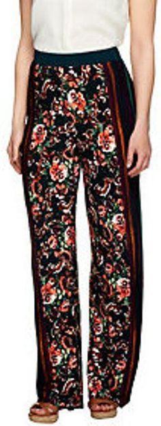 George Simonton Petite A253193 Printed Milky Knit Wide Leg Pants Sz MP  | eBay