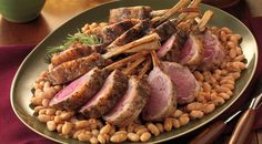 Herbed Racks of Lamb with Garlicky White Beans Recipe by Jamie Purviance