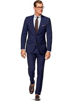 Slightly Darker Blue - Suit Blue Plain Lazio P4533i | Suitsupply Online Store