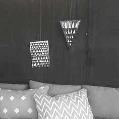 The Minimalist Home x Rooftop styling / Ahoy trader artwork + Jennifer & Smith cushions