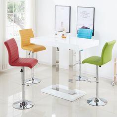 e672d56f3dc Fiesta Bar Table In White High Gloss And Glass Shelves
