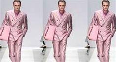 Alternative Men's Suits - Suits with a Difference - Men Style Fashion Pink suit Mens Fashion Suits, Blazer Fashion, Mens Suits, Emo Fashion, Style Fashion, Alternative Men, Pink Suit, Sharp Dressed Man, Business Dresses