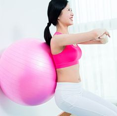 Exercise Ball Wall Sit