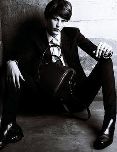 Saskia de Brauw-by Hedi Slimane-Saint Laurent Paris Menswear-Ad Campaign-2003SS