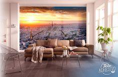 Fotomurales: Paris puesta de sol con vista aérea #parís #ciudad #decoración #pared #TeleAdhesivo Tapestry, Home Decor, Sunsets, Tour Eiffel, Houses, Towers, Vinyls, Cities, Hanging Tapestry