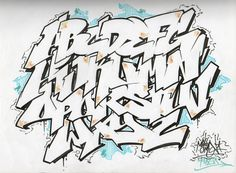 Sketches Graffiti Alphabet Font AZ By MerlynOne carsweat.