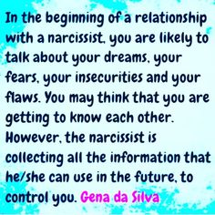 Narcissists are SUPER eager to find out EVERYTHING they can about you. Not because they have a genuine interest in you or your well being. Narcissists sole interest lies in manipulating and exploiting you for everything you've got. #narcissist #NarcissisticAbuse