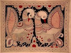Indian Painting Styles...Kalamkari Paintings (Andhra Pradesh)-peacock1-5-.jpg