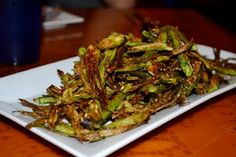 Amazing okra fries from Chai Pani in downtown Asheville.