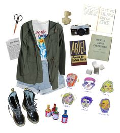 Teenage Poet by lithiummm on Polyvore featuring polyvore, Dr. Martens, Holly's House, PATH, fashion, style and clothing