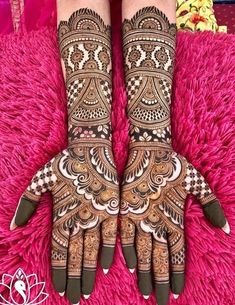 If you are looking for bridal mehndi designs for your wedding, then check out these top 30 mehandi images for some inspiration. Right from a simple mehndi design to an elaborate bridal henna design, you'll find it in here! Wedding Henna Designs, Latest Bridal Mehndi Designs, Indian Henna Designs, Full Hand Mehndi Designs, Mehndi Designs For Girls, Dulhan Mehndi Designs, Mehndi Design Pictures, Mehndi Images, Arabic Mehndi Designs Brides