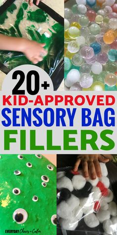 Wondering what to put in your next sensory bag? Expand your sensory play with this list of sensory bag fillers!