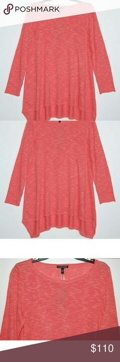 "NEW Eileen Fisher bateau neck top tunic Salmon/pink color. Organic linen/cotton blend. Length 29"". Sleeve 24"". Chest 19"". Eileen Fisher Tops Tunics"