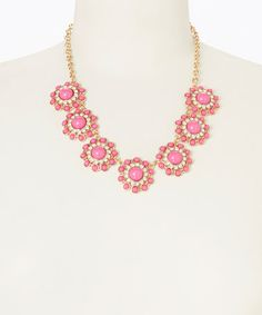 Loving this Hot Pink Circle Dot Necklace on #zulily! #zulilyfinds