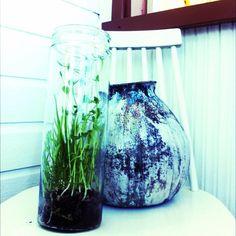 purkkiversot-herne Glass Vase, Home Decor, Decoration Home, Room Decor, Home Interior Design, Home Decoration, Interior Design