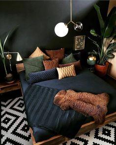 Decor, Industrial Bedroom Design, Home Bedroom, Bedroom Interior, Bohemian Bedroom Decor, Home Decor, House Interior, Bedroom Inspirations, Loft Interior Design
