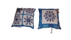 Reversible Winter Crisp Blue and White Snowflakes Indoor/Outdoor Pillow for sale online White Snowflake, Snowflakes, Blue Pillows, Throw Pillows, Outdoor Pillow, Indoor Outdoor, Crisp, Woodworking, Blue And White