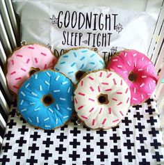 How could these delicious #doughnutcushions not make you happy? Sweet for a kids room.