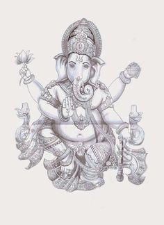 Título: Ganesha Técnica: Grafite sobre papel  29,5 x 42 cm                                                                                                                                                                                 Mais