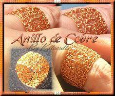 Killa Joyas y Accesorios: Anillo en Hilo de Cobre - Crochet Wire