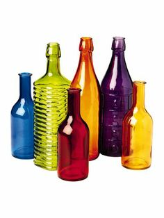 Colorful Bottles, Set of 6 drill a hole in the bottom side add some miniature Darice deco lights and watch the eyes of the receiver sparkle.