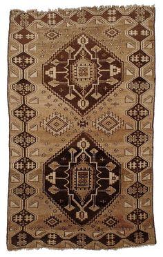 "Vintage Persian Baluchi Rug 4'6""x7'0"" - Hunttrugs"