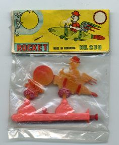 Unusual Vintage Dime Store Space Rocket To Moon Toy