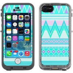 Skin Decal for LifeProof Apple iPhone 5C Case Aztec Andes Tribal White... ❤ liked on Polyvore featuring accessories and tech accessories