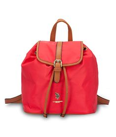 7482b2039e US Polo Assn. Houston Backpack Bag Nylon PU in Red