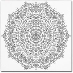 Trademark Global Kathy G. Ahrens Mixed Coloring Book 27 Canvas Art - 11 x 14 x Coloring Books, Coloring Pages, Colouring, Flower Doodles, Book Images, Mandala Coloring, Mixed Media Artists, Baby Boy Newborn, Star Shape