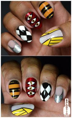 Freddie Mercury nails? I don't know about that but I like the yellow/white one.