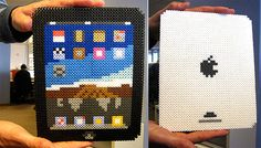 iPad con Perler bead by Bill Couch. ¡¡¡ES GENIAL!!!