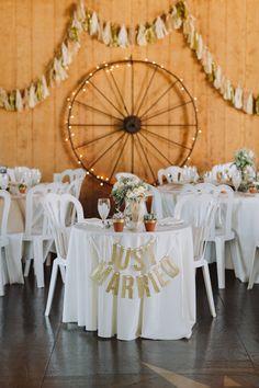 sweetheart table, photo by With Love & Embers http://ruffledblog.com/ostertag-vistas-wedding #weddingreception #sweethearttable