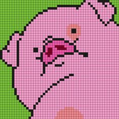 Waddles From Gravity Falls Perler Bead Pattern / Bead Sprite