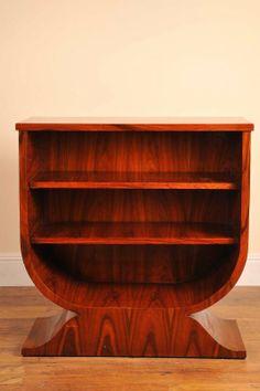 Art deco bookcase in rosewood