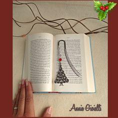 Segnalibro albero di Natale - Segnalibro natalizio - Segnalibro rigido - Accessori libri - Handmade - Creazioni artigianali di AnnieGioielli su Etsy