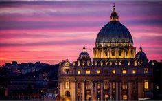 Canvas Print Rome  St. Peter Sunset di Edicom su Etsy