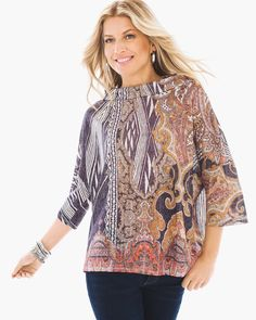Paisely Relic Boxy Top