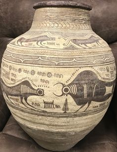 3rd Millenium BC Indus Valley painted vessel.  Amazingly like modern art.