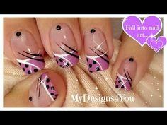 Cute Polka Dots Nail Art | Abstract Purple Nails ♥