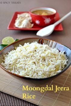Spicy Treats: Moongdal Jeera Rice / Jeera Rice - Easy Lunch Recipes