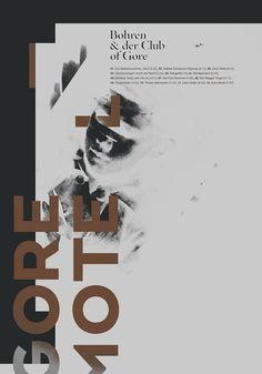 Bohren & der Club of Gore poster set. by Patryk Hardziej, via Behance