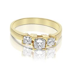 Affordable Yellow Gold Engagement Ring for All